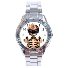 Do What Your Brain Says Stainless Steel Analogue Watch