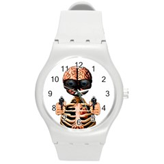 Do What Your Brain Says Round Plastic Sport Watch (m)