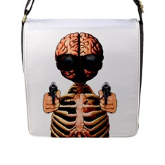 Do What Your Brain Says Flap Messenger Bag (l)
