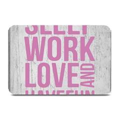 Grunge Style Motivational Quote Poster Plate Mats