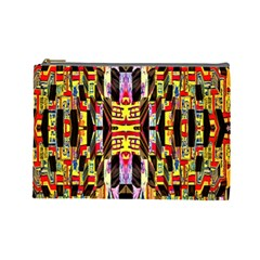 Three D Pie  Cosmetic Bag (large)