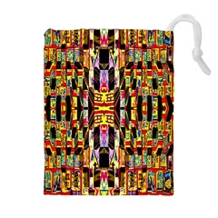 Three D Pie  Drawstring Pouches (extra Large)