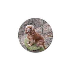 Red Full Cocker Spaniel Golf Ball Marker