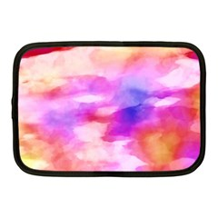 Colorful Abstract Pink And Purple Pattern Netbook Case (medium)