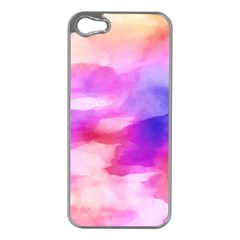 Colorful Abstract Pink And Purple Pattern Apple Iphone 5 Case (silver)