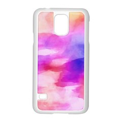 Colorful Abstract Pink And Purple Pattern Samsung Galaxy S5 Case (white)