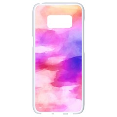 Colorful Abstract Pink And Purple Pattern Samsung Galaxy S8 White Seamless Case