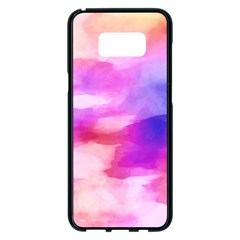 Colorful Abstract Pink And Purple Pattern Samsung Galaxy S8 Plus Black Seamless Case