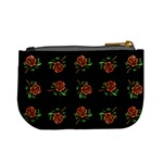 Tattoo Roses Coin Change Purse Back