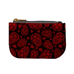 Sugar Skulls   Red Coin Change Purse