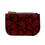 Sugar Skulls - Red Coin Change Purse Front