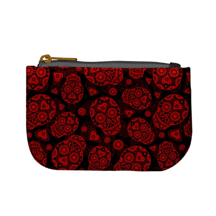 Sugar Skulls - Red Coin Change Purse