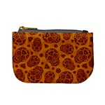 Sugar Skulls - Gold Coin Change Purse Front