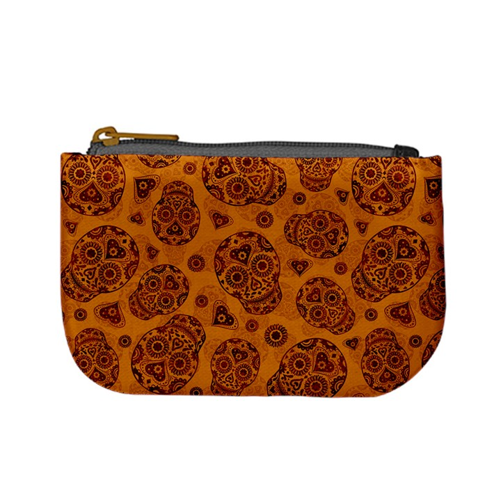 Sugar Skulls - Gold Coin Change Purse