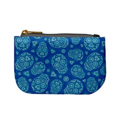 Sugar Skulls   Baby Blue Coin Change Purse