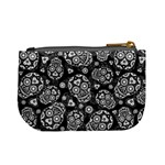 Sugar Skulls - Black and White Coin Change Purse Back
