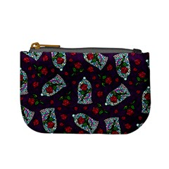 Stained Glass Roses Coin Change Purse