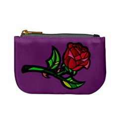 Leaning Rose Coin Change Purse