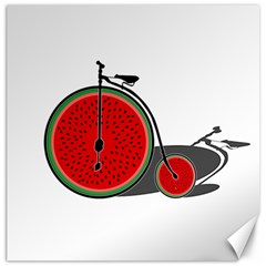 Watermelon Bicycle  Canvas 12  X 12