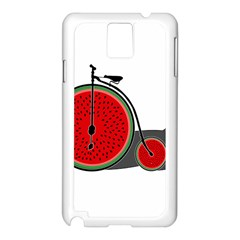 Watermelon Bicycle  Samsung Galaxy Note 3 N9005 Case (white)