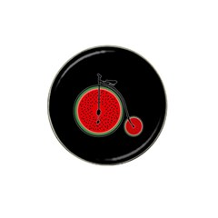 Watermelon Bicycle  Hat Clip Ball Marker (4 Pack)