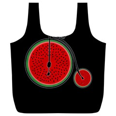 Watermelon Bicycle  Full Print Recycle Bags (l)