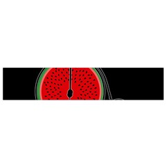 Watermelon Bicycle  Flano Scarf (small)