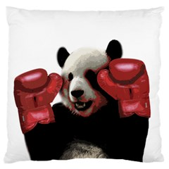 Boxing Panda  Large Flano Cushion Case (one Side)