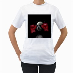 Boxing Panda  Women s T Shirt (white)