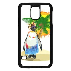Tropical Penguin Samsung Galaxy S5 Case (black)