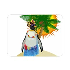 Tropical Penguin Double Sided Flano Blanket (mini)