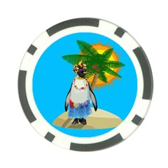 Tropical Penguin Poker Chip Card Guard (10 Pack)