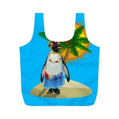 Tropical Penguin Full Print Recycle Bags (m)