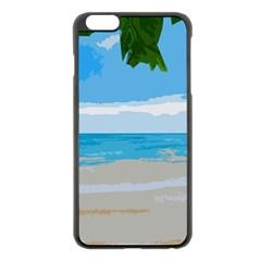Landscape Apple Iphone 6 Plus/6s Plus Black Enamel Case