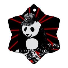 Deejay Panda Ornament (snowflake)