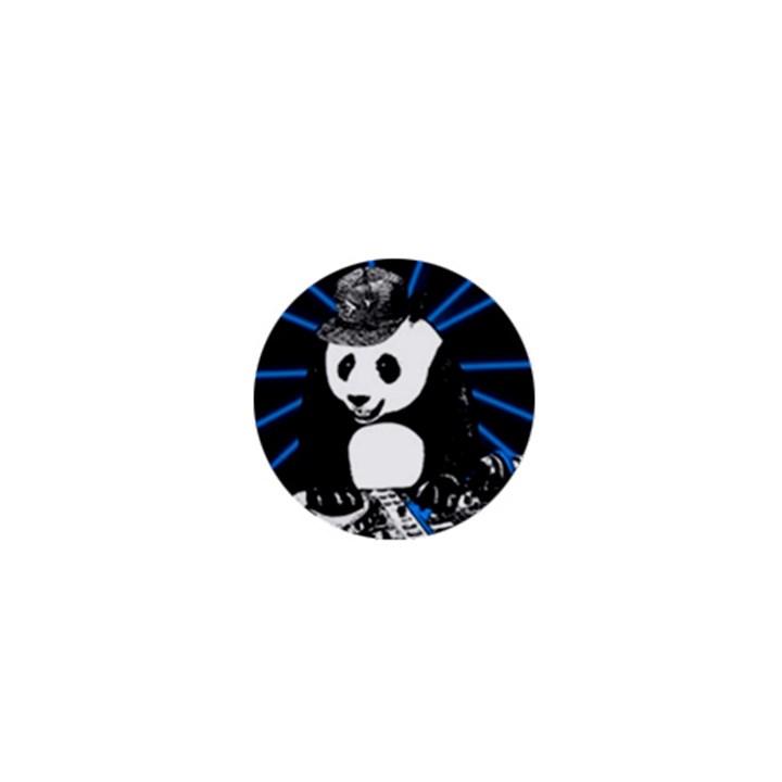 Deejay panda 1  Mini Buttons