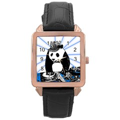 Deejay Panda Rose Gold Leather Watch