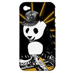 Deejay Panda Apple Iphone 4/4s Hardshell Case (pc+silicone)