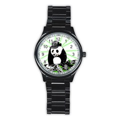 Deejay Panda Stainless Steel Round Watch