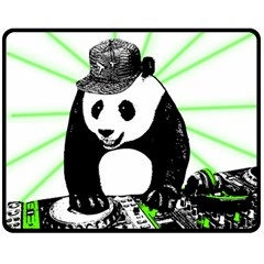 Deejay Panda Double Sided Fleece Blanket (medium)