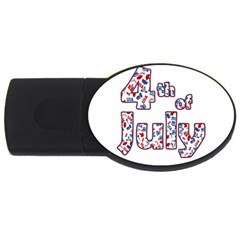 4th Of July Independence Day Usb Flash Drive Oval (4 Gb)