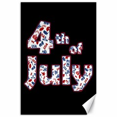 4th Of July Independence Day Canvas 24  X 36