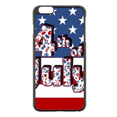 4th Of July Independence Day Apple Iphone 6 Plus/6s Plus Black Enamel Case