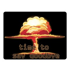 Nuclear Explosion Double Sided Fleece Blanket (small)