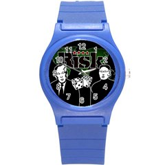Nuclear Explosion Trump And Kim Jong Round Plastic Sport Watch (s)