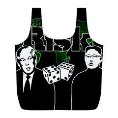 Nuclear Explosion Trump And Kim Jong Full Print Recycle Bags (l)