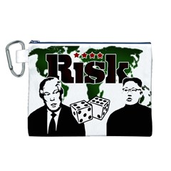 Nuclear Explosion Trump And Kim Jong Canvas Cosmetic Bag (l)