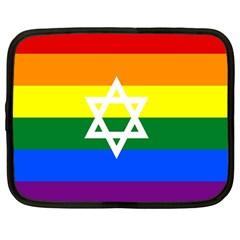 Gay Pride Israel Flag Netbook Case (large)