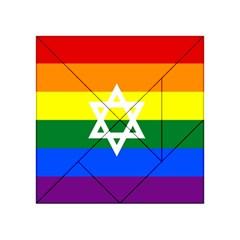 Gay Pride Israel Flag Acrylic Tangram Puzzle (4  X 4 )
