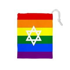 Gay Pride Israel Flag Drawstring Pouches (medium)